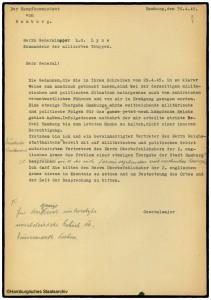 Antwort Kampfkommandant Alwin Wolz auf die  Kapitulationsaufforderung von General Lyne