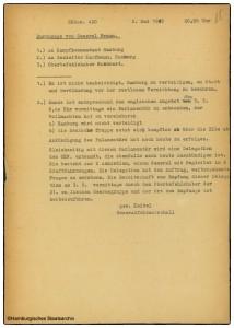 Befehl von Generalfeldmarschall Wilhelm Keitel - Hamburg wird nicht verteidigt