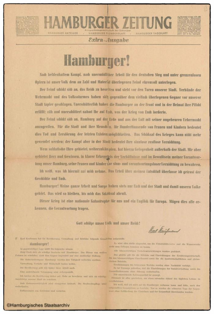 Aufruf an die Hamburger vom 3. Mai 1945