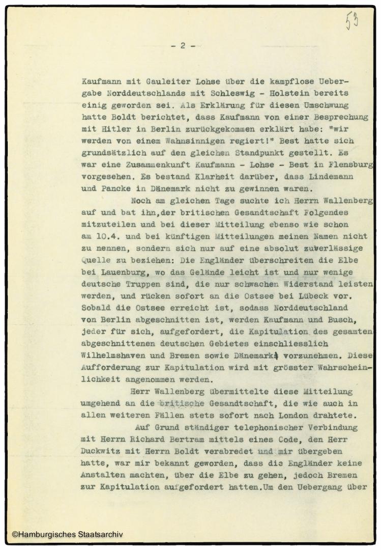 Erinnerungen von Heinrich Riensberg, Schiffahrts-Attache der deutschen Gesandtschaft in Stockholm - Teil zwei