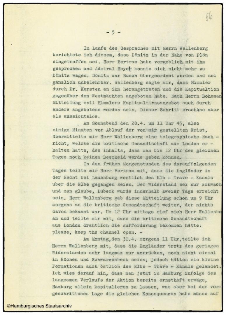 Erinnerungen von Heinrich Riensberg, Schiffahrts-Attache der deutschen Gesandtschaft in Stockholm - Teil fünf