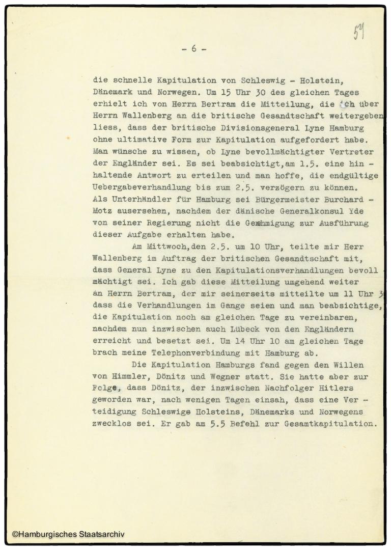 Erinnerungen von Heinrich Riensberg, Schiffahrts-Attache der deutschen Gesandtschaft in Stockholm - Teil sechs