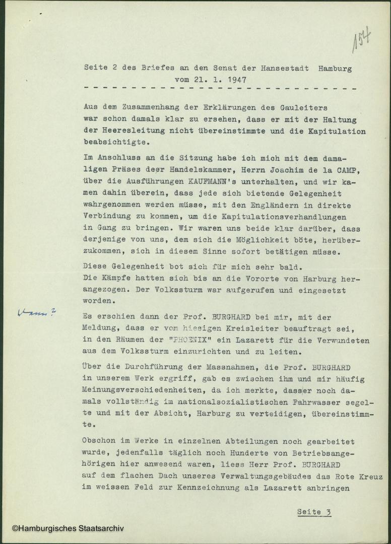 Albert Schäfer über die Kapitulationsverhandlungen - Teil zwei