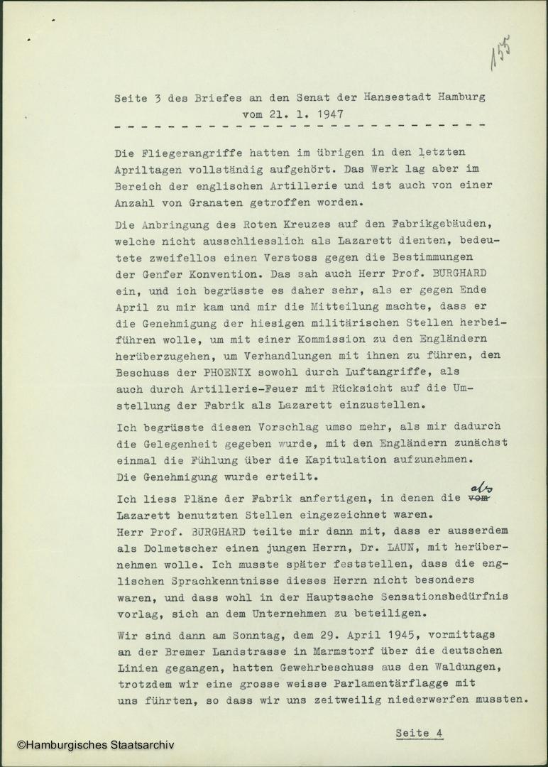 Albert Schäfer über die Kapitulationsverhandlungen - Teil drei