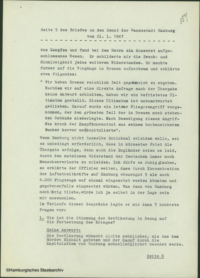 Albert Schäfer über die Kapitulationsverhandlungen - Teil fünf