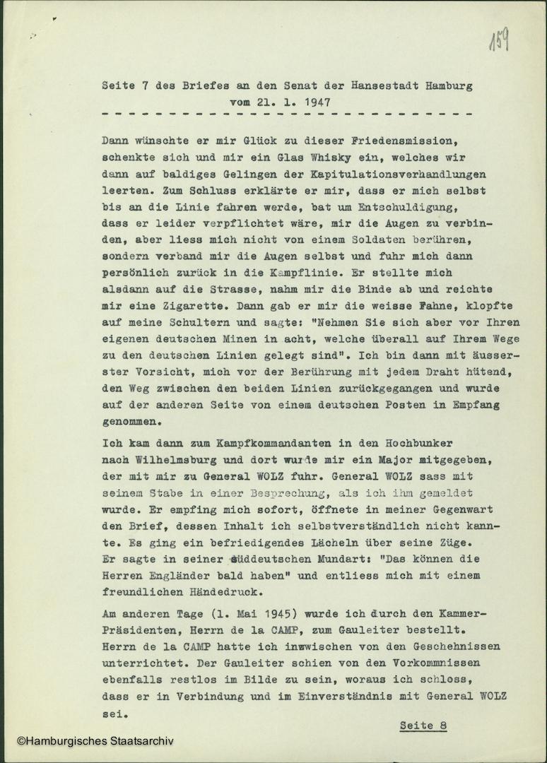 Albert Schäfer über die Kapitulationsverhandlungen - Teil sieben