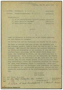 Schreiben von Kaufmann an Dönitz