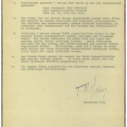 Schreiben von Hauptmann Lyndsay an Kampfkommandant Wolz