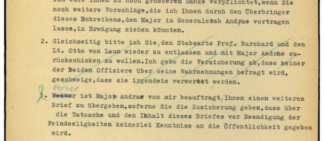 Zweite Antwort von Kampfkommandant Alwin Wolz