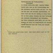 Durchhaltebefehl von Gauleiter Karl Kaufmann