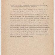 Telegramm von Heinrich Riensberg an die Engländer vom 28. April 1945